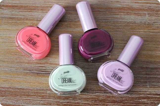 p2 just dream like le nagellacke basislacke peach delight mint flavour cassis passion lilac joy