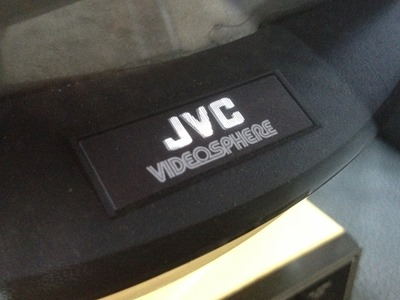 JVC Videosphere logo on front of set