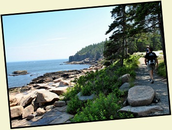 02 - Hiking the Ocean Path from Sand Beach to Gorham Mtn Bus Stop
