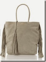 Cocinelle Grey Suede Fringed Tote
