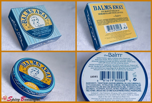 theBalm Balms Away Packaging