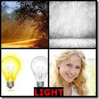 LIGHT- 4 Pics 1 Word Answers 3 Letters