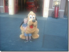 Pluto and Fire Truck