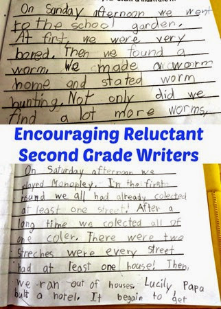 Encouraging Reluctant Second Grade Writers from Planet Smarty Pants