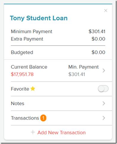 DebtCard