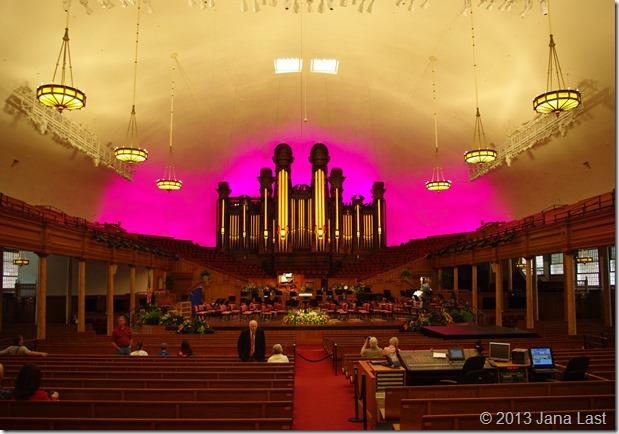 Inside the Salt Lake Tabernacle June 2011