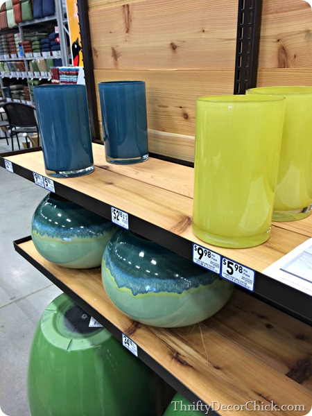 blue green candleholders