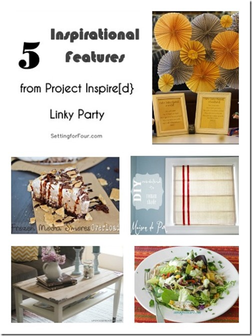 5 Inspirational Features from Project Inspired www.settingforfour