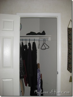 Organized closet