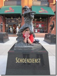 lisa by baseball statue 4