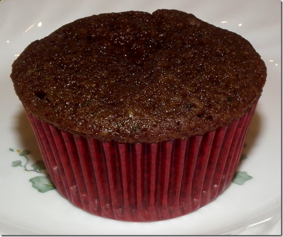 Chocolate Zucchini Cupcake (March SRC) 2-28-12 (made with EVOO)