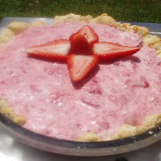 Bavarian Strawberry Cream Pie