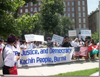 Kachin protest in USA
