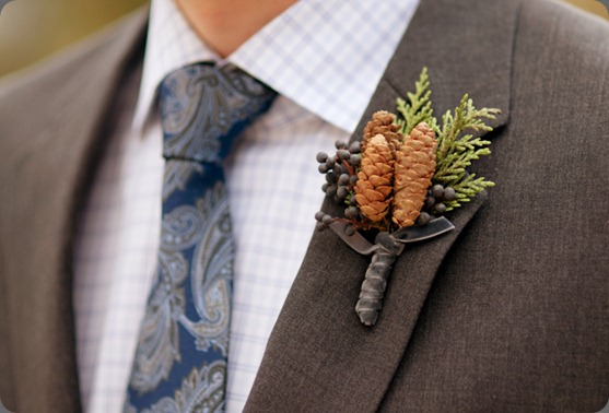Pinecone Boutonnire by Cori Cook MZ