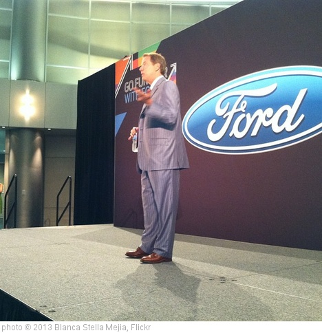'Bill Ford, great-grandson of Henry Ford.Technology focused in reinvention of @ford #fordtrends' photo (c) 2013, Blanca Stella Mejia - license: http://creativecommons.org/licenses/by/2.0/