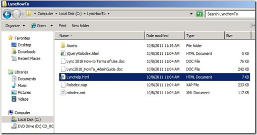 Lync How To - File Copy