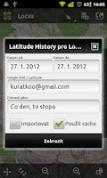 Screenshot of Locus - addon Latitude History