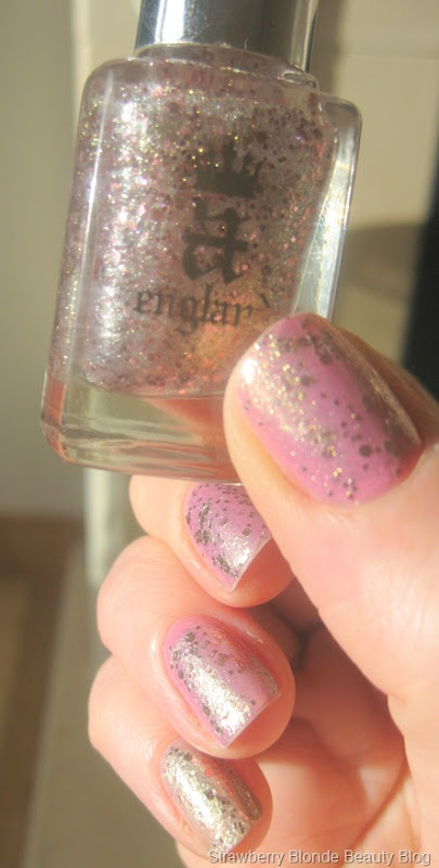 A-England-She-Walks-in-Beauty-Rose-Gold-Pink-Glitter-pic-review