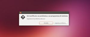 Ubuntu - Segnalazione Errori