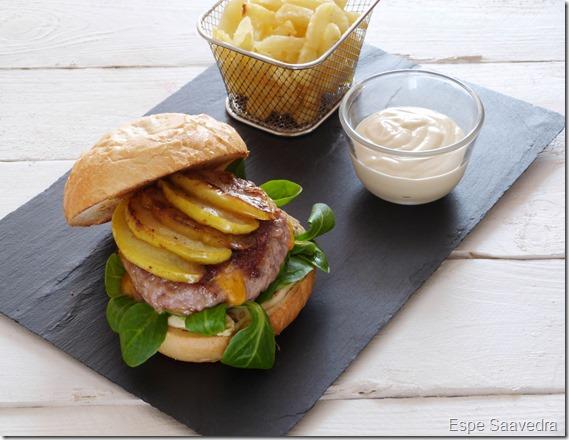 hamburguesa queso nueces espe saavedra
