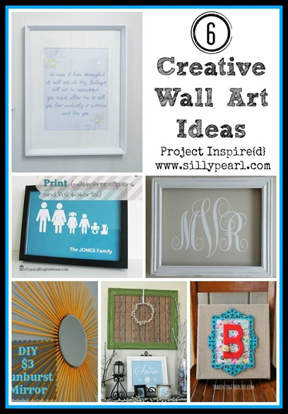 Six Creative Wall Art Ideas - The Silly Pearl