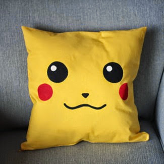 Pikachu Cushion Cover from Citadel Traders on Etsy