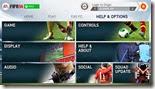 قائمة المساعدة و الإعدادات فى لعبة فيفا 2014