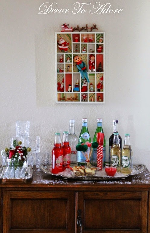 Decor To Adore~ Christmas Bar Cart 038