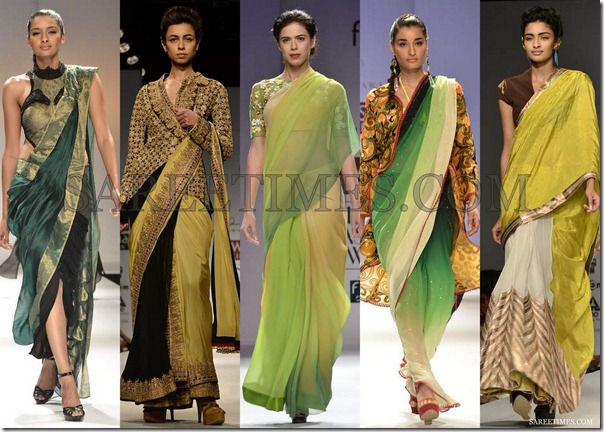WLIFW_Spring_Summer_2013_Green_Sarees