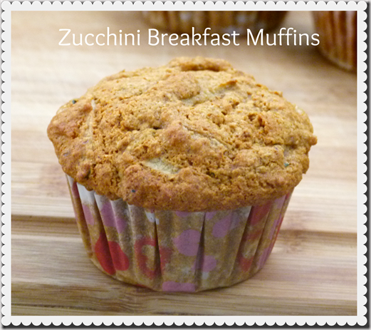 zucchini Breakfast Muffins vegan