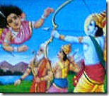 Rama defending the sages