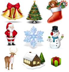 Флэш новогодние украшения на сайт