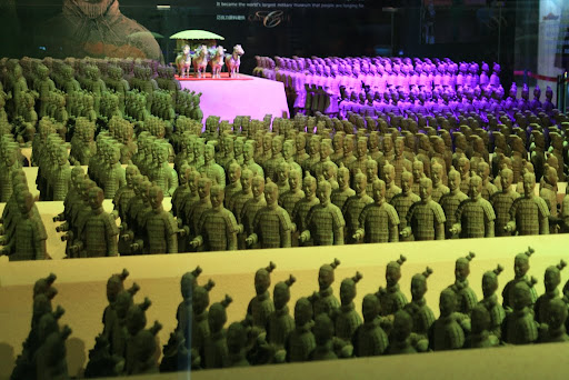 And here's the Terracotta army... in.... you've guessed it... chocolate!