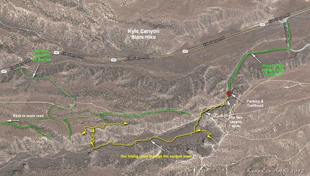 Kyle Canyon Slots Map