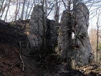 Sklanata kompozija pod planino Prihod