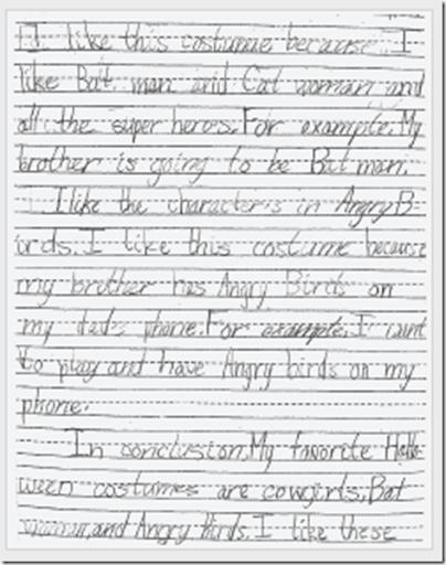 Examples of 3rd grade essay