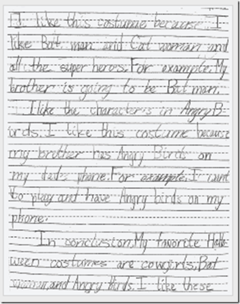 second grade essay writing