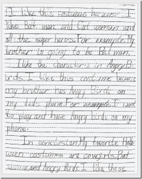 Writing Scored Student Work - Grade 5 - Oregon