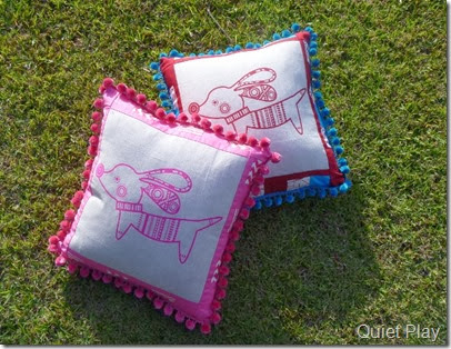 Pipsqeak cushions for Christmas
