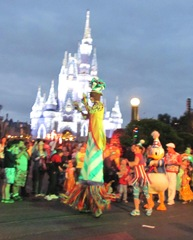 Disney trip movers shakers stilt walker Donald