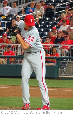 'Phillies closer Jonathan Papelbon closing out the game' photo (c) 2012, Matthew Straubmuller - license: https://creativecommons.org/licenses/by/2.0/
