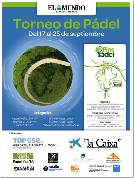 Torneo de Pádel en el Club PINS de Mallorca del 17 al 25 de septiembre de 2011.