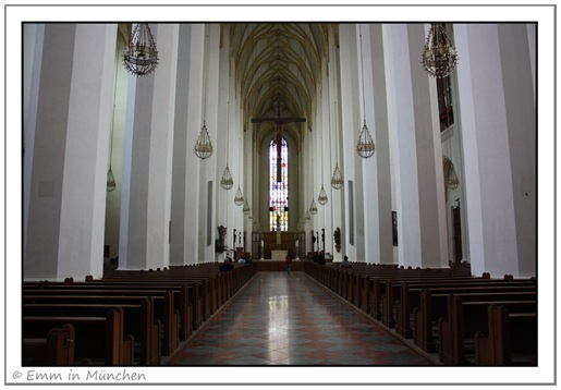 Interior and alter of Munich Frauenkirche