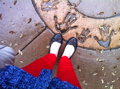 Red Pants Rainy Day