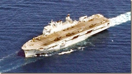 HMS_Ocean,_in_parade_formation