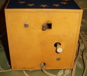 Seth Thomas Mini-Light alarm clock, reveille (stars & stripes patriotic)