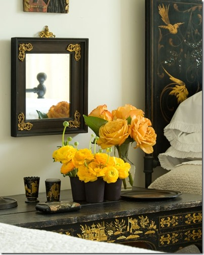 yellow roses via jane moore interior via petervitalephotography.com via pinterest