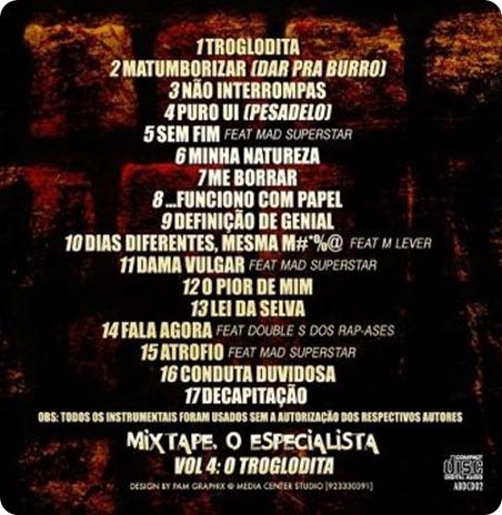 Abdiel - Mixtape 'O Especialista Vol.4 - O Troglodita' [Capa - Back]