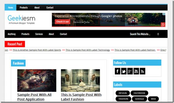geekiesm premium blogger template