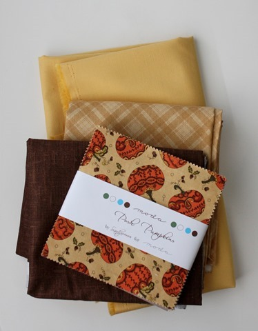 Posh Pumpkins fabric